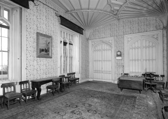 Skye, Armadale Castle, interior. General view of dining room.
