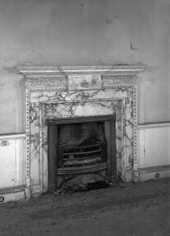 Interior Detail of drawing room fireplace.