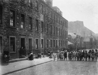 View of St John Street from North, also showing children