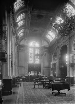 Interior-general view showing solicitors in the library.