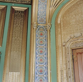 Taymouth Castle.  1st. floor, Chinese drawing-room, detail of decoration on arch in front of window at East end.