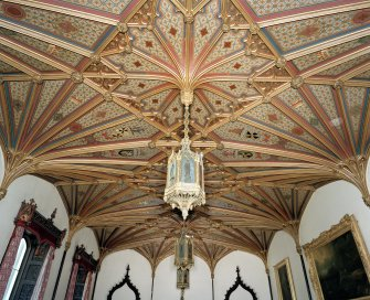 Taymouth Castle.  1st. floor, Dining-room, view of ceiling from West.