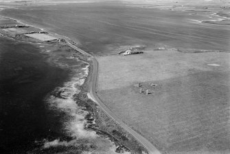 Oblique aerial view of Stones of Stenness.