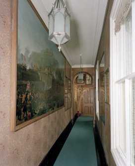 Leith Hall, interior.  First floor. South West corridor: view from East end