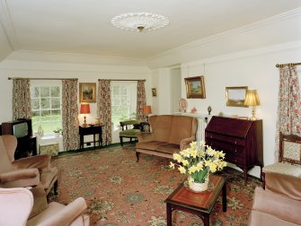 Leith Hall, interior.  First floor. Representatives sitting room: view from North East
