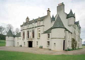 Leith Hall, exterior.  View from South West