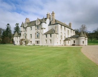 Leith Hall, exterior.  View from South East