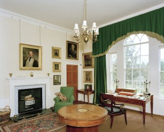 Leith Hall, interior.  First floor. Library: view from North East