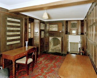 Leith Hall, interior.  Ground floor. Office: view from West