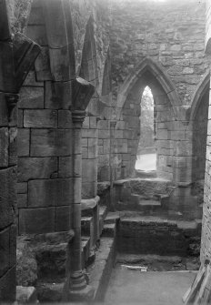 South West angle of dorter interior