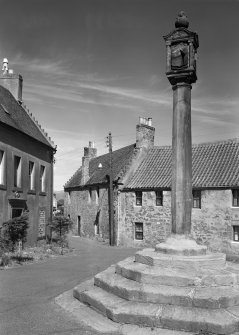 Digital copy of view of Miss Gourlay's House, McLeans property and Mercat Cross from SW.