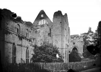 Dryburgh Abbey. View from NE.