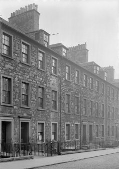 View of houses on East side of St John Street