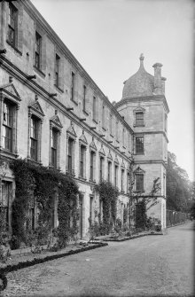 Culross Abbey Mansion House Rear view of house Scanned image from original glass plate negative. Original envelope annotated by Erskine Beveridge 'Culross Abbey from W 1896'