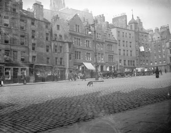 General view of the north east end of the Grassmarket
