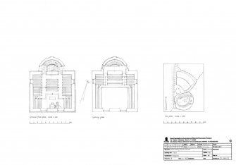 Ground floor plan, Gallery floor plan and Site plan of Church