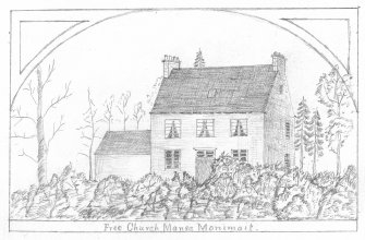 Digital image of sketch of Free Church Manse Monimail (Bow of Fife)