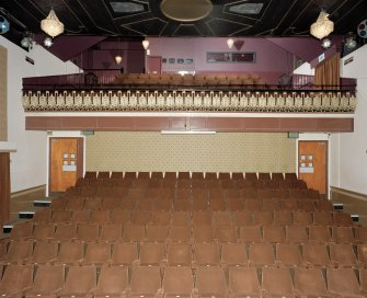 Interior. Auditorium, view from stage to west