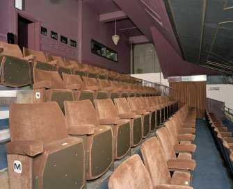 Interior. Auditorium, view of balcony from north