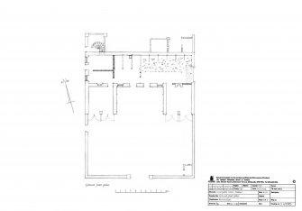Innergellie House - Stables, ground floor plan.