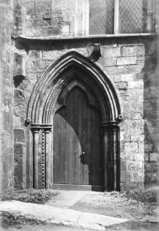 "View of entrance  Titled: 'St Mirin's Aisle.' [Gardner, Alexander in ""A handbook to Paisley"" calls this 'St Mirin's chapel or the once famous Sounding Aisle.']"
