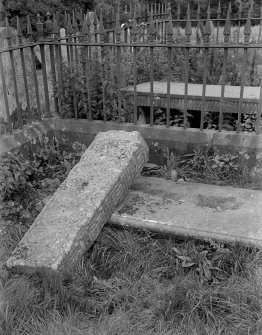 View of graveslab.