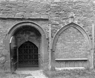 Interior view of doorway and tomb of Sir Kenneth Mackenzie