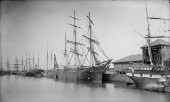 View of ships. Caption on original negative back: 'Shipping, Leith Docks'