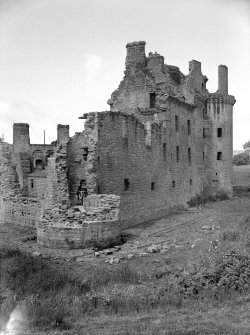 Caerlaverock Castle. View from South East.