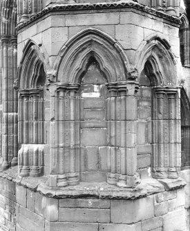 View of three blind arches, lower arcade.