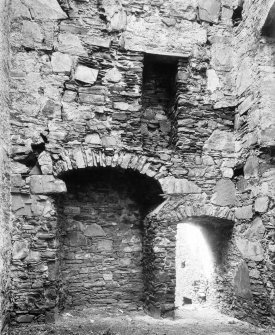 Fireplace, window and doorway