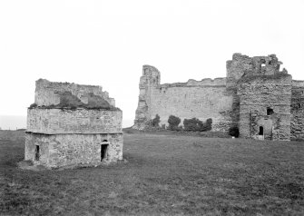 View of fore-tower and dovecotfrom SW.