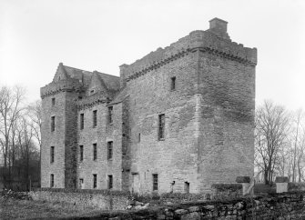 Huntingtower Castle. General view from South-East.