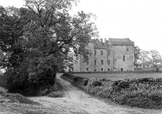 Huntingtower Castle. General view from South-West.