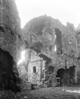 Interior. View of ruins.