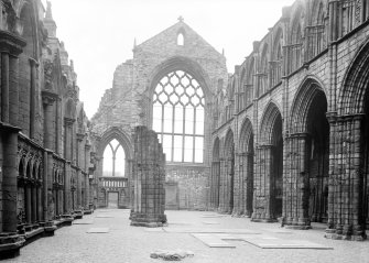 General view of Nave of Holyrood Abbey looking North East