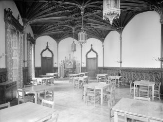 Taymouth Castle, interior. View of Baron's dining room from South.