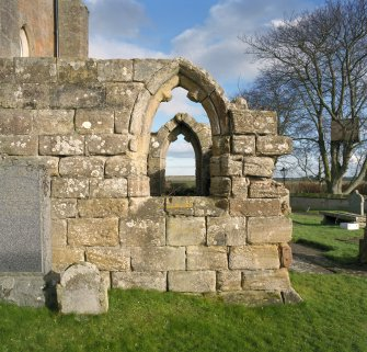 Fearn Abbey.  South East aisle, view of West window from West.