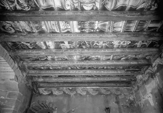 detail of painted ceiling.