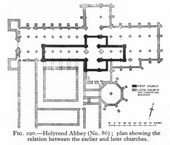 Plan showing the relationship between the earlier and later churches.