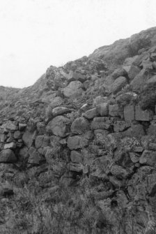 Outer face, SE wall. An image from the Buteshire Natural History Society archaeology photograph album, held at Bute Museum.