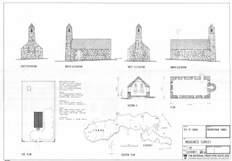 Presbyterian Church, Canna, Floor plans, sections and elevations