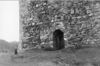 Exterior view of entrance to castle.