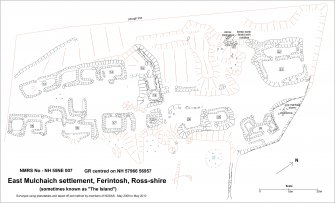 Plan of Mulchaich east township - surveyed using planetables and taped-offset method combined