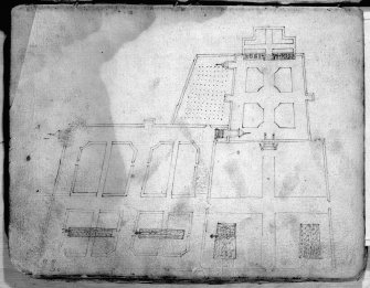 Photographic copy of plan 6, garden layout.