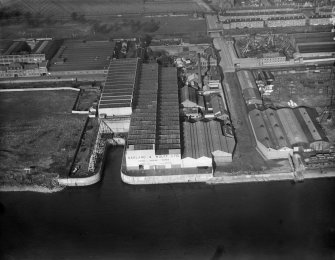 Harland and Wolff Diesel Engine Works, Balmoral Street, Scotstoun, Glasgow.  Oblique aerial photograph taken facing north-east.