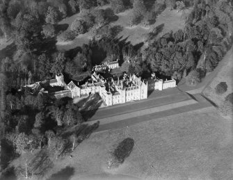 Rossie Priory, Inchture.  Oblique aerial photograph taken facing north.