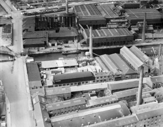 A and G Paterson St Rollox Sawmills and St Rollox Chemical Works, Glasgow.  Oblique aerial photograph taken facing north.