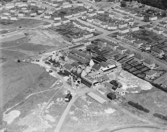 Shanks and Co. Ltd. Longpark Pottery Works, Kilmarnock.  Oblique aerial photograph taken facing north-east.