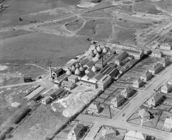 Shanks and Co. Ltd. Longpark Pottery Works, Kilmarnock.  Oblique aerial photograph taken facing north.